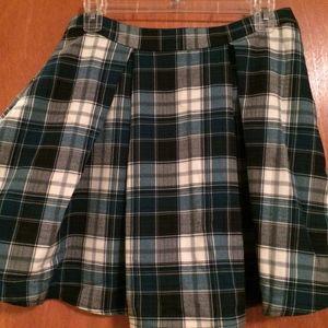 ModCloth/GLAMOROUS Blue Plaid Pleated A-line Skirt